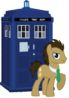 Doctor Whooves and The TARDIS trace by cheeseater109