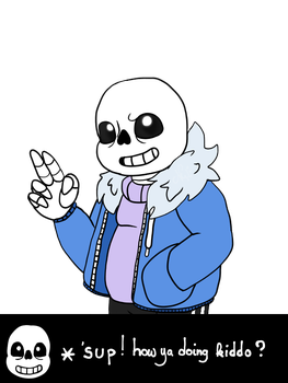 Sans' greeting by NebulaWords