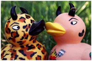 Rockabilly Duck Love by WithinIllusion