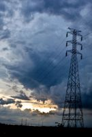 the storm and the eletric tower by geographicgeorge
