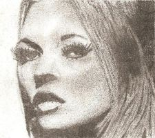 Kate Moss Drawing by beckykekky