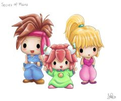 Chibi Secret of Mana by capsicum