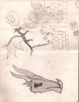 I saw a dragon! by Holleester