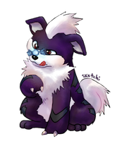 purple growlithe by sketchi