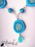 """Necklace """"The daughter of the tribe of Water& by Tantalia"""