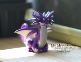 Purple and White Dragon by MiniMythicalMonsters