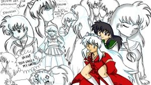 Inuyasha and Kagome Moments by spogunasya