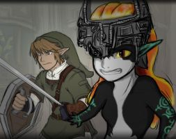 TP- Link and Midna by LynntheHylian