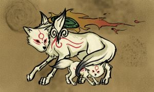 The Amaterasu and Chibiterasu by TheSuta