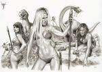 CAVE GIRLS ON THE LOST WORLD by jairolago