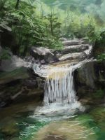 Speed Painting - waterfall by RQuack