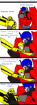 TFP: Optimus and Bumblebee: love you son by celtakerthebest