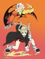 SOUL and MAKA by ToPpeRa-TPR