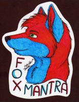 Badge Commission: FoxMantra by Skunk-Mantra