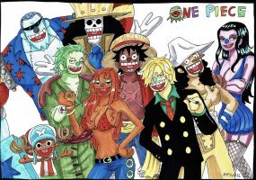 Straw Hat Pirates , Puppet by heivais
