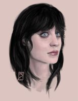 Zooey Deschanel Sketch by EdBourg