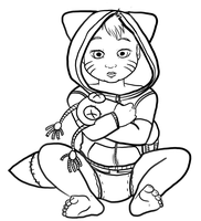 Color Me: Baby Naruto by ChimeraNell