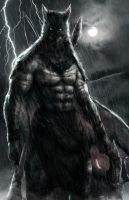 Primitive Batman by AbelVera