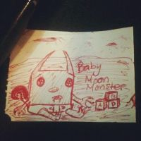 baby moon monster by Piggy911