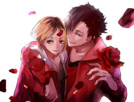 [Haikyuu!!] Kuroo and Kenma by Xx-Misericorde