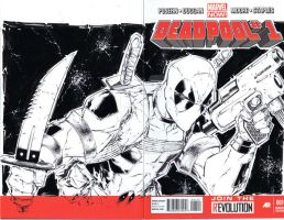 Deadpool sketchcover commission 7-13 by adelsocorona