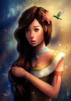 Disney Pocahontas by sanguisGelidus