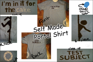 I made me a shirt- Portal by Celedeen