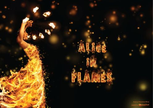Alice in Flames by FaceyFace
