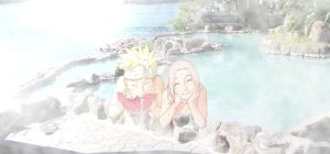 naruto and sakura in onsen by Bleach-Fairy