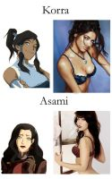 Korra and Asami. by ex0tique