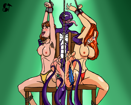 [Commission] Two Sexy Girls And A Fun Situation 2 by SymbionTickles