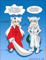 Inuyasha meets Kurama the fox by mentos04