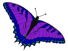 Purple Butterfly by AGirlWithDreams96