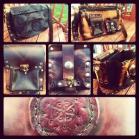 Leather laptop satchel by JoshSkaarup
