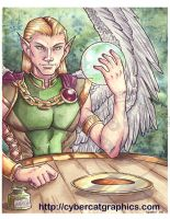 Watercolor Elf Lord by lady-cybercat