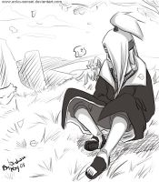 Deidara thinking... by Anko-sensei