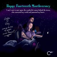 Our fourteenth month together by Marzzel