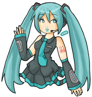 HALF-ASSED Matsune Miku by saporion