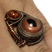Steampunk Ring Copper Eye by CatherinetteRings