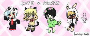 Cute Adopts 3/4 OPEN by MaiaSadoptsNstuff