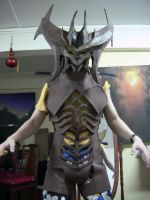 Diablo costume WIP - body + head by Clivelee