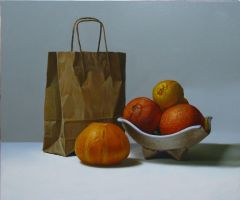 still life with paper bag by andrianart