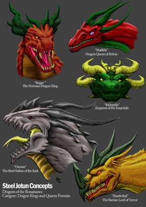 Renaissance Dragon Portraits: Lords and Ladies