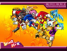 Sonic Battle All Characters by tikal