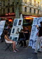 Portrait Artists. Avignon. France by jennystokes