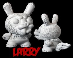 Dunny Monster : DIY Larry by zombiemonkie