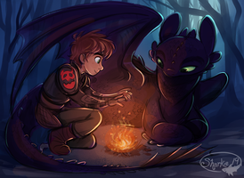 HTTYD Winter by sharkie19