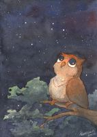 Starry Owl by JamieKinosian