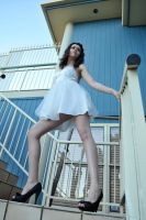 Charis - legs on steps 1 by wildplaces