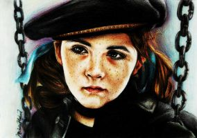 Esther (Orphan) coloured portrait by MichellyMe